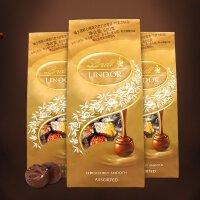 【三袋�b】瑞士�M口瑞士�巧克力Lindt�心精�x巧克力600g*3袋 �群�5�N口味 �日*年�好�Y