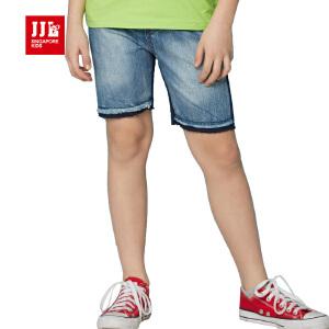 jjlkids季季乐童装男童休闲舒适透气清凉夏季中大童牛仔五分裤