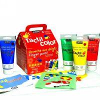 正品法国Pebeo贝碧欧儿童手指画颜料80ML4色套装 DIY小房子礼盒装