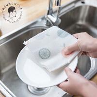抹布百洁布棉纱洗碗布不沾油清洁布厨房吸水不掉毛加厚刷碗布抹布