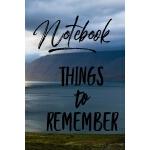 预订 Notebook Things to Remember [ISBN:9781696777063]