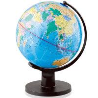 得力地球仪 得力3034 地球仪 25cm高清全塑行政地理教学地球仪 书桌摆件