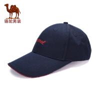 骆驼男装 2017秋季新款无弹时尚休闲圆顶逛街棒球帽棒球帽男帽子