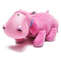 Zoobies如比玩具 河马安迪毛绒玩具三合一BP102【毛绒玩具+抱枕靠枕+宝宝抱毯睡毯空调毯】