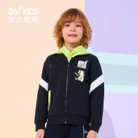 【1件45折到手价:134.55】361度童装 男童针织外套2021年春季中大童儿童运动休闲外套
