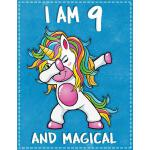 预订 Unicorn B Day: I am 9 & Magical Unicorn birthday nine Ye