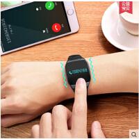 游泳防水运动跑步手环智能手表男成人 计步器学生手机来电提醒女
