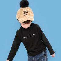 童装儿童秋衣男童冬装体恤2018新款中大童套头高领打底衫潮大中小0-1女宝宝小童儿男女童
