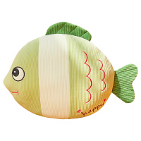 鱼抱枕仿真3d鲤鱼可爱鱼枕头毛绒玩具床上睡觉公仔玩偶超软布娃娃