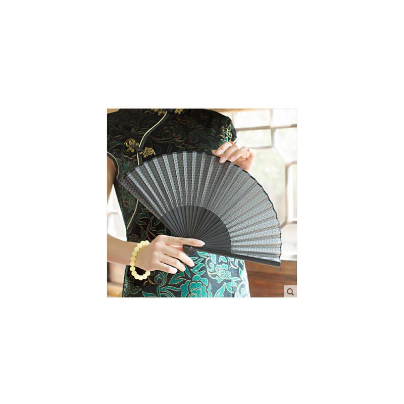 韩式暗纹绢扇 7寸古风扇子折扇现代古典中国风旗袍礼品扇女扇 可礼品