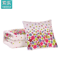索乐冬季加厚多功能抱枕被子两用沙发靠垫被办公室枕头被小靠枕