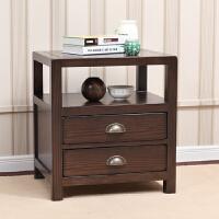 优梵艺术 2015新品床头柜 卡隆卧室家具美式乡村 板木储物柜