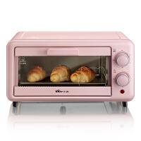 小熊(Bear)电烤箱 家用多功能迷你11升容量全自动做蛋糕蛋挞烘焙机器小巧烤箱 粉色 DKX-D11B1