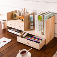 全国包邮 可伸缩实木无漆小书架 办公桌收纳层架 宜家风格木艺简易桌上书柜书架 儿童桌面收纳