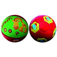 【当当自营】费雪(Fisher Price)儿童玩具球二合一 (7寸篮球长颈鹿+儿童足球18cm 赠送打气筒)
