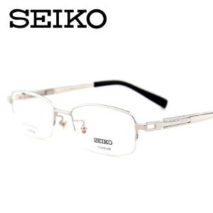 精工眼镜架 SEIKO近视眼镜 纯钛商务超轻眼镜框 HC-1007
