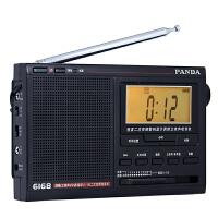 熊猫收音机6168 熊猫6168 液晶显示 二次变频 高考收音机全波段便携式半导体收音机老人用广播礼物