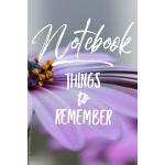 预订 Notebook Things to Remember [ISBN:9781078447409]