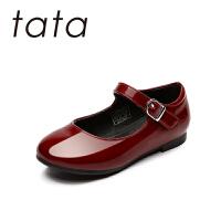 【159元任选2双】tata女童皮鞋2018春季儿童演出鞋淑女公主鞋软底单鞋时尚童鞋(3-15岁可选)W80141