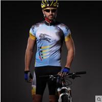 骑行服短袖套装男春夏季骑行短裤 自行车山地车运动装备