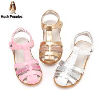 暇步士女童凉鞋2020夏季新款拼接亮片舒适柔软小童公主时装凉鞋