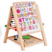 大号实木儿童画板画架双面磁性可折叠宝宝写字板白板支架式小黑板