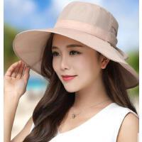 防晒沙滩帽子海边大沿防紫外线可折叠度假出游太阳帽 遮阳帽女 支持礼品卡