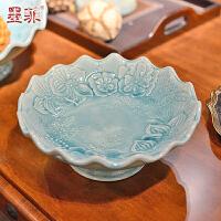 墨菲 欧式现代简约干果盘 创意时尚陶瓷家居客厅茶几装饰水果盘