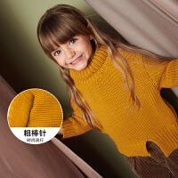 迷你巴拉巴拉女宝宝高领毛衣2018年冬季新款幼童韩版宽松针织毛衫