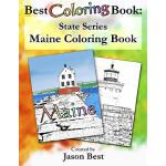 预订 Best Coloring Book: State Series - Maine Coloring Book [