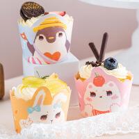 纸杯蛋糕纸杯家用包邮100只 烘焙用蒸蛋糕耐高温卡通可爱立体杯子
