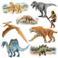 TOMY多美卡仿真小恐龙仿真动物模型男孩玩具霸王龙暴龙迅猛龙老虎