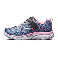 Skehers斯凯奇童鞋新款魔术贴休闲鞋女童时尚防滑运动鞋