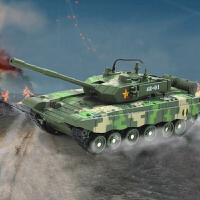 坦克模型合金玩具车1:48儿童T-99坦克99式装甲车声光军事系列
