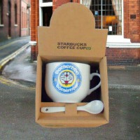 陶瓷带勺咖啡杯  牛奶咖啡杯 喝水创意水杯 简约小情调迷你情侣杯
