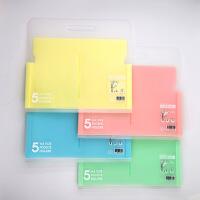 热销PP文件夹定制 试卷夹文件袋横式手提5格风琴包