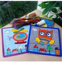 儿童纸绳画礼盒装手工粘贴DIY美术制作幼儿园礼物宝宝益智玩具