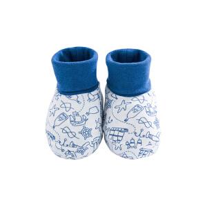 【加拿大童装】Gagou Tagou新生婴儿脚套 春秋宝宝脚包夏季薄款6-24月袜套护脚套纯棉