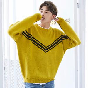 【只亏一天,抢完涨价】男装韩版潮流青年圆领时尚宽松男士针织衫毛线衣