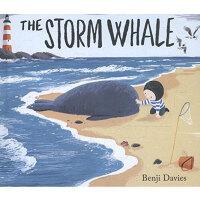 预售【中商原版】班吉戴维斯:暴风鲸 英文原版 Storm Whale 绘本 3-6岁 纸板书