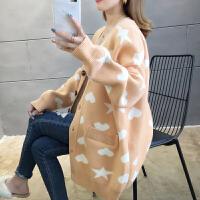 韩版秋装上衣孕妇开衫毛衣秋冬季宽松慵懒风中长款针织外套