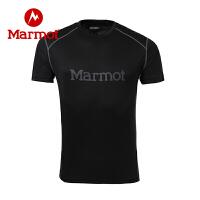Marmot/土拨鼠春夏户外新款轻薄宽松圆领速干短袖男士T恤