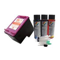 INKOOL适用惠普墨盒F2188 4288 2488 D1668墨盒 HP818墨盒+填充墨水优惠组合