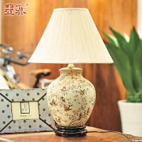 墨菲燕莺欧式台灯卧室床头陶瓷创意现代时尚婚庆客厅装饰灯具