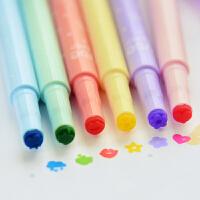 学生用品韩款文具可爱印章荧光笔果冻创意糖果色彩色