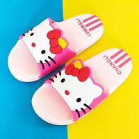 儿童拖鞋女童夏季卡通男童凉拖鞋可爱凯蒂猫浴室大中小童宝宝防滑