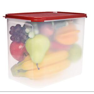 特百惠MM储藏保鲜盒长方4号米面防尘防虫防潮 8.7L大容量干货储藏盒