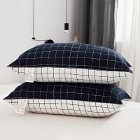 邦尼杰家纺宾馆磨毛舒适枕头枕芯床上用品 羽丝绒护颈椎枕单人枕学生可水洗软枕 单人用