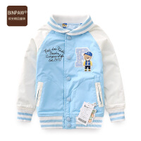 【超值热卖】BINPAW童装男童秋装夹克 2018新款双面穿开衫单排扣宝宝运动外套