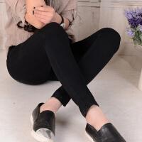 高腰牛仔裤女长裤子秋2017新款韩版显瘦学生烟灰色弹力紧身小脚裤